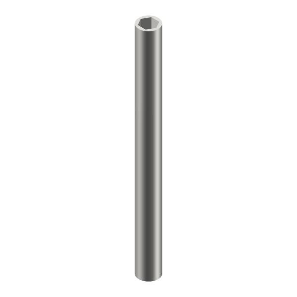 Profilrohr l Stahl l Außen rund Ø9mm l Innen 6kant SW6 l Länge 1000mm