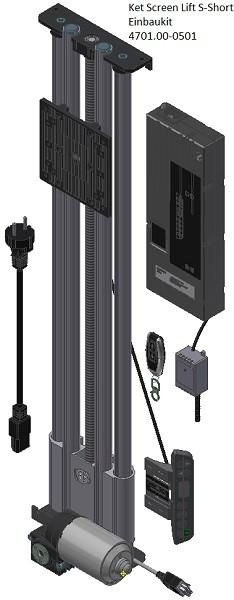 Monitor / TV-Lift bis 25kg 600 / Hub + 157 mm