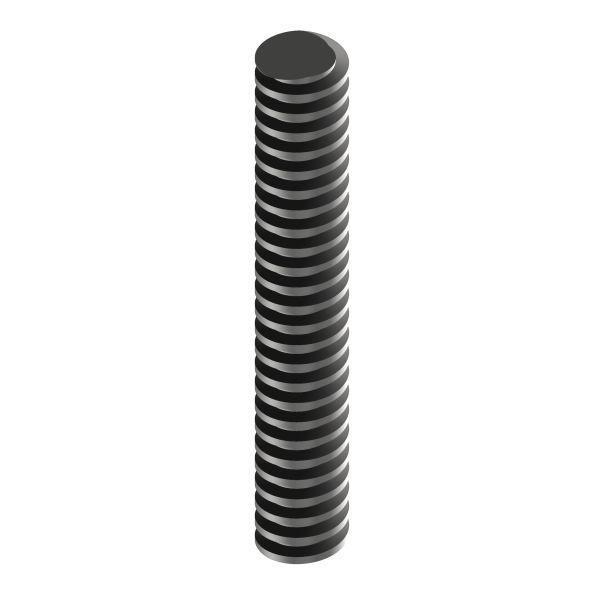 Trapezgewindespindel TR 16 Stahl TR 16x8 P4 / rechts / 1000 mm