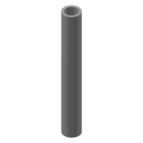 Profilrohr außen rund, innen rund Ø 14 mm / Ø 10 mm / 1000 mm