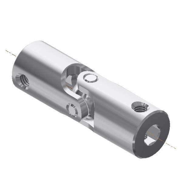 Stahl verzinkt L=42mm aussen Ø 13mm Kreuzgelenk beidseitig 8mm Bohrung