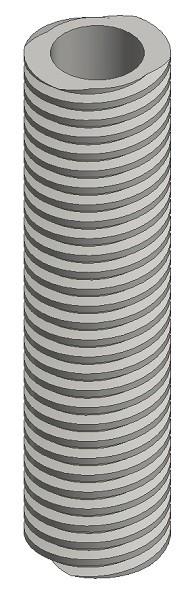 Spindelrohr Stahl SG 25x7 P3,5 / rechts / 1000 mm