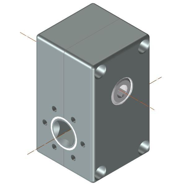 Schneckengetriebe 3-9 Nm ; 3:1 - 30:1 Antrieb 6kt SW6 ; Abtrieb 4kt SW10  3 Nm / 3:1