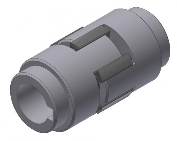 Klauenkupplung Ø 12mm 4P9 / Ø 12mm 4P9