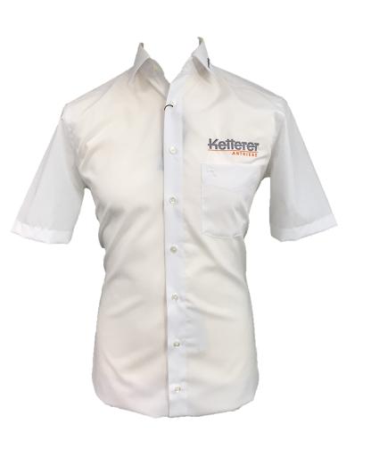 Herren Hemd Olymp Luxor body fit / kurzarm / 36 cm / weiß
