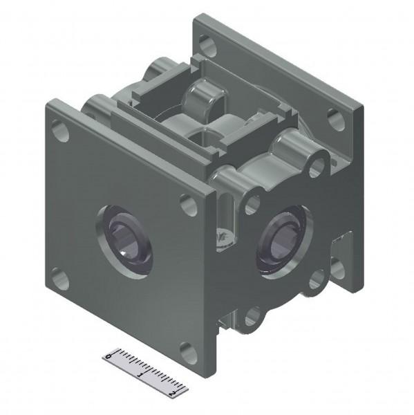 Kegelradgetriebe 10 Nm 1:1 mit Sackloch innen 6kt SW7 / 2