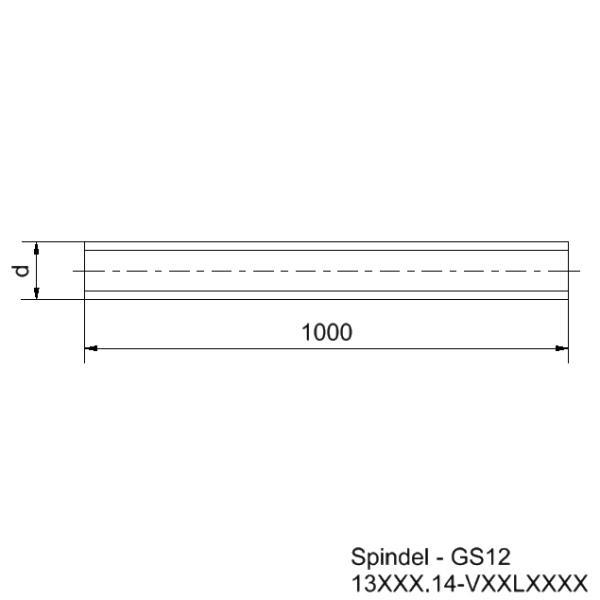 Länge 1000mm Stahl TR 12x16 P4 Durchmesser 12mm Gewindespindel rechts