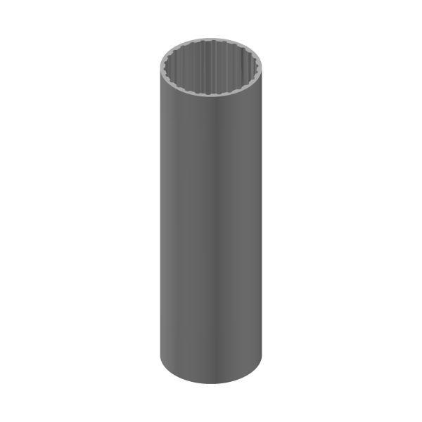 Alu Rohr Vielzahnprofil innen DIN 5480, 26 Zähnen. 1000 mm