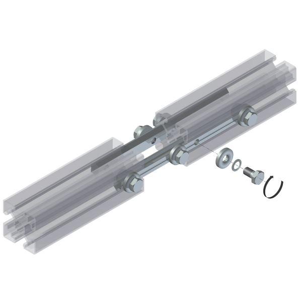 2x Profilverbinder Streckenverbinder Alu Profil Verbinder Nut 6 Alu Profil