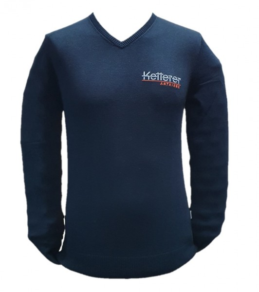 V-Pullover Herren premium Cotton schwarz