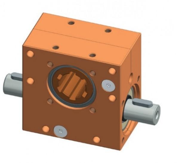 Schneckengetriebe mit Durchgangsschnecke l 1,5 - 15 Nm
