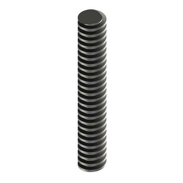 Trapezgewindespindel TR 16 Stahl TR 16x2 / links / 1000 mm