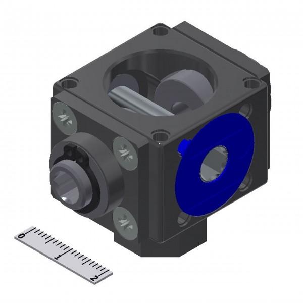 Kegelradgetriebe 3 Nm 1:1 90° / 90° / 180°