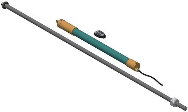Elektromotorischer Spindelantrieb (in Kürze verfügbar) ohne Kurbel Notbetätigung