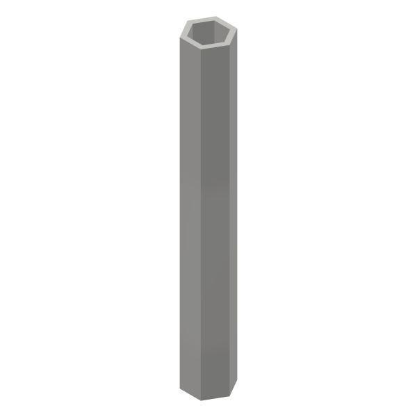 Profilrohr 6 kant SW 6,25 / 6 kant SW 9 / 1000 mm